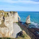 Famouse Etretat arch rock, France Stock Photo