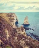 Famouse Etretat arch rock, France Royalty Free Stock Photo