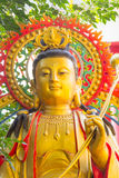 Famouse großer Buddha im chinesischen Tempel bei Phitsanulok, Thailand Lizenzfreies Stockbild