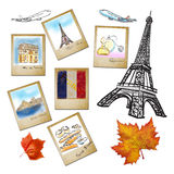 Famouse landmark of France in photo frame Stock Image