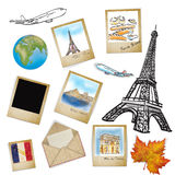Famous landmark of France in photo frame Stock Photo