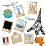 Famous landmark of France in photo frame Stock Photo
