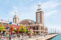 Famouse Navy Pier, Chicago, Illinois, USA Royalty Free Stock Image