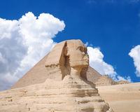 Famouse Sphinx under evening clouds. Royalty Free Stock Images
