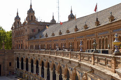 Famouse square of Spain in Seville, Spain stock image