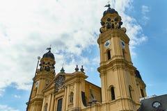 Famouse Theatiner教会在慕尼黑 免版税库存照片