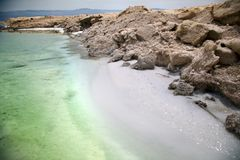 Dead Sea Salty Shore Stock Photos