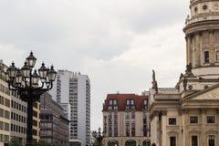 Famoust touristic Berlin squeare - Gendarmenmarkt Stock Image