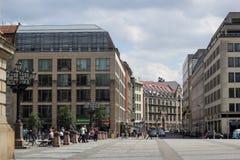 Famoust touristic Berlin squeare - Gendarmenmarkt Royalty Free Stock Photo