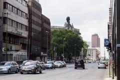 Famoust touristic Berlin squeare - Gendarmenmarkt Stock Images