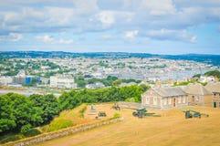 Famouth i Cornwall, England royaltyfria foton