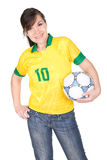 Fanático del fútbol Imágenes de archivo libres de regalías