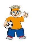 Fanático del fútbol Foto de archivo