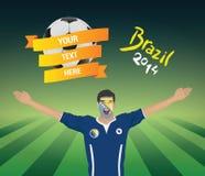 Fanático del fútbol bosnio Imagen de archivo