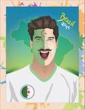 Fanático del fútbol de Argelia Foto de archivo