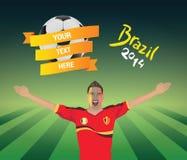 Fanático del fútbol de Bélgica Imagen de archivo libre de regalías