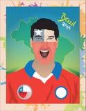 Fanático del fútbol de Chile Imagen de archivo libre de regalías