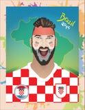 Fanático del fútbol de Croacia Fotografía de archivo libre de regalías