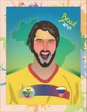 Fanático del fútbol de Equador Imagen de archivo