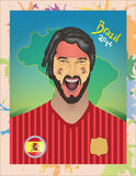 Fanático del fútbol de España Imagenes de archivo