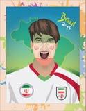 Fanático del fútbol de Irán Foto de archivo libre de regalías