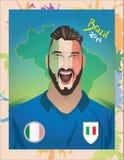 Fanático del fútbol de Italia Foto de archivo