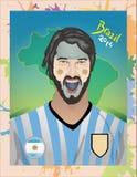 Fanático del fútbol de la Argentina Fotografía de archivo