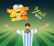 Fanático del fútbol de la Argentina Fotografía de archivo libre de regalías