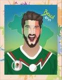 Fanático del fútbol de México Imagenes de archivo