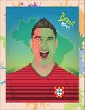Fanático del fútbol de Portugal Fotos de archivo
