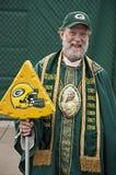 Fanático del fútbol del NFL de los embaladores del Green Bay Fotos de archivo libres de regalías