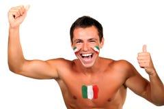 Fanático del fútbol italiano Foto de archivo libre de regalías