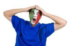 Fanático del fútbol italiano Imagen de archivo libre de regalías