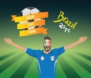 fanático del fútbol italiano Fotografía de archivo