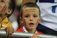 Fanático del fútbol joven Foto de archivo