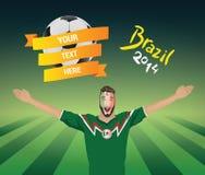 Fanático del fútbol mexicano Fotografía de archivo