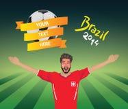 Fanático del fútbol suizo Fotografía de archivo libre de regalías