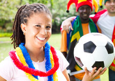 Fanáticos del fútbol Imagen de archivo libre de regalías