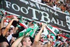 Fanáticos del fútbol Imágenes de archivo libres de regalías