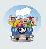Fanáticos del fútbol Stock de ilustración
