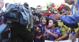 fanáticos del fútbol de Colombia almacen de video