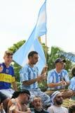 Fanáticos del fútbol de la Argentina Fotos de archivo