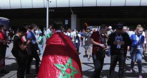 Fanáticos del fútbol de Marokko almacen de video