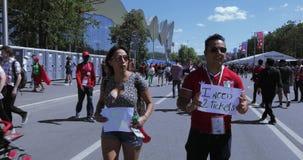 Fanáticos del fútbol de Marruecos almacen de video