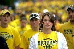 Fanáticos del fútbol de Michigan Imagen de archivo