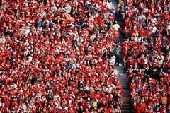 Fanáticos del fútbol del tejón de Wisconsin Imagen de archivo
