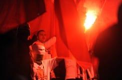 Fanáticos del fútbol, gamberros Fotografía de archivo