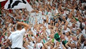 Fanáticos del fútbol, gamberros Imagenes de archivo