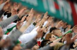 Fanáticos del fútbol, gamberros Fotos de archivo