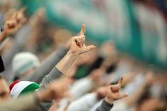 Fanáticos del fútbol, gamberros Fotos de archivo libres de regalías